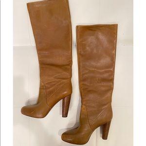 ELIE TAHARI Knee High Leather Boots Sz 39.5
